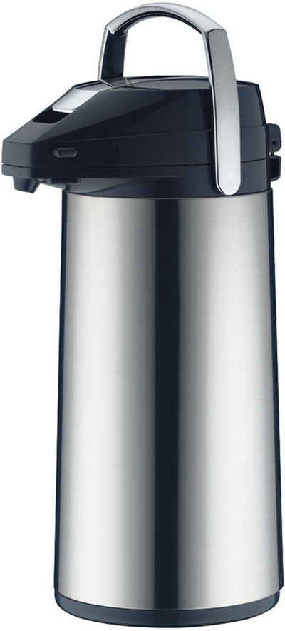 Alfi Pump-Isolierkanne, 2,2 l, Edelstahl, mit Glaseinsatz