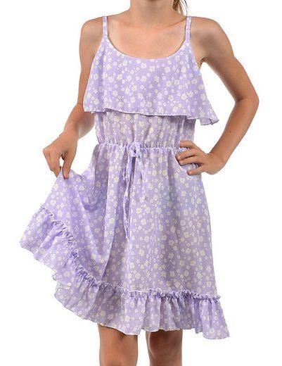 KMISSO Jerseykleid »Mädchen Kleid Spaghettiträger und Volant« (1-tlg) bequem zu tragen