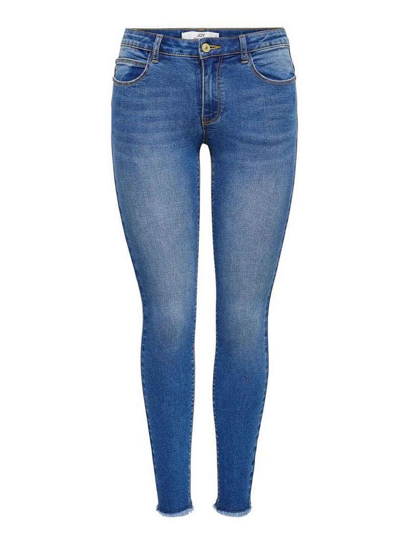 JACQUELINE de YONG Skinny-fit-Jeans »3382« JDY Damen Skinny Jeans Stretch JDYSONJA Ankle Denim Hose mit Fransen