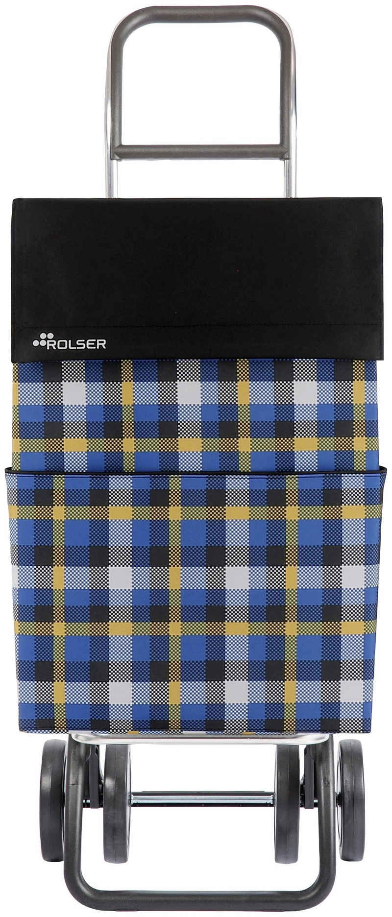 Rolser Einkaufstrolley »DOS+2 DML Scottish«, 43 l, in verschiedenen Farben, Max. Tragkraft: 40 kg, Tasche abnehmbar