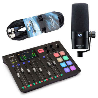 RODE Microphones Mischpult »Rode RodeCaster Pro Station + Presonus PD70 +Kabel«