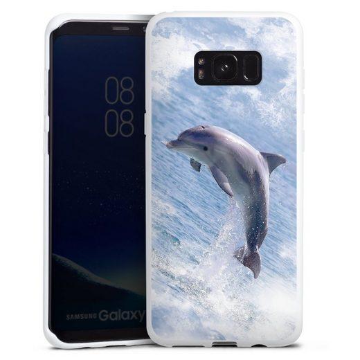 DeinDesign Handyhülle »Springender Delphin« Samsung Galaxy S8 Plus, Hülle Delfine Meer Wal