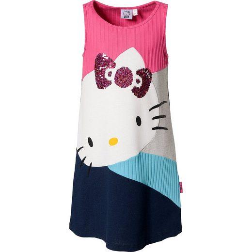 Desigual Kinder Kleid Hello Kitty mit Materiamix