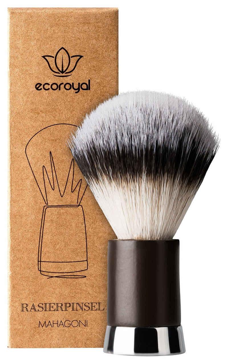 ecoroyal Rasierpinsel »Ecoroyal Rasierpinsel I Dachshaar Imitat I Shaving Brush für Herren und Damen I Rasierpinsel Vegan«, Set, Rasierpinsel, Kunsthaar Rasierpinsel
