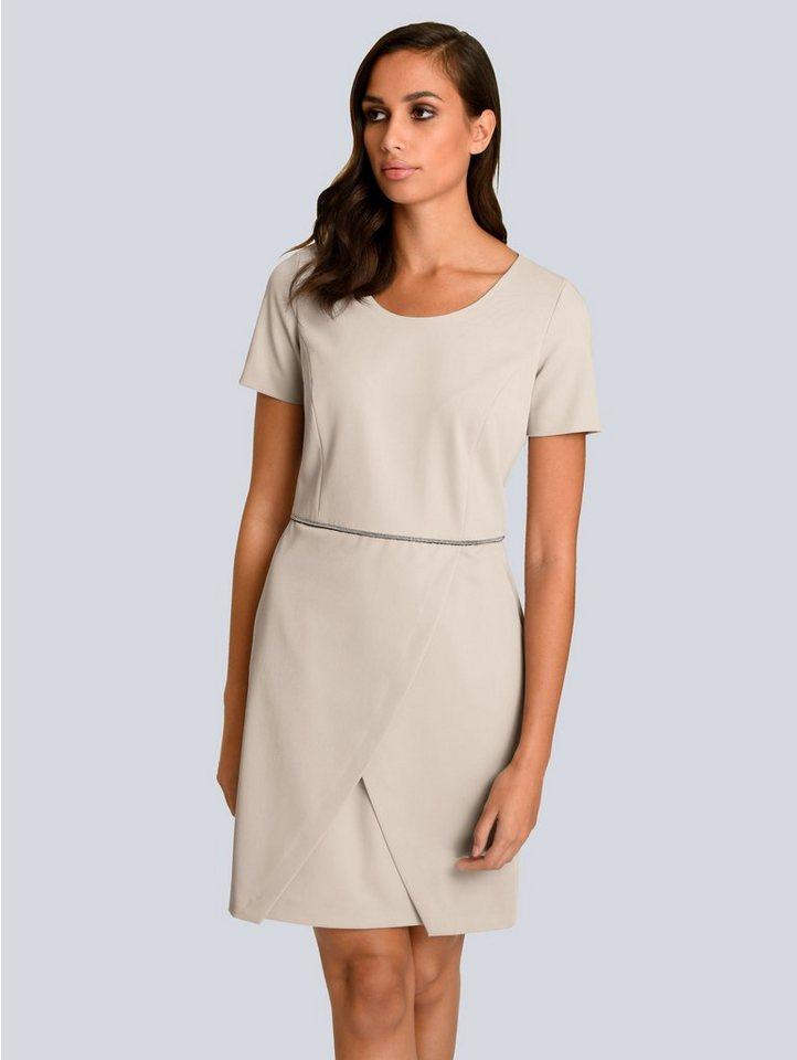 Alba Moda Kleid mit dekorativem Schmuckband in der Taille ...