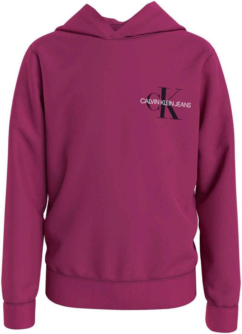 Calvin Klein Jeans Kapuzensweatshirt »SMALL MONOGRAM HOODIE« mit kleinem Logodruck