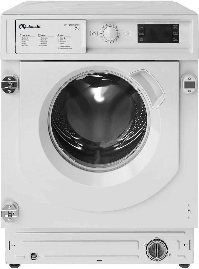 BAUKNECHT Einbauwaschmaschine BI WMBG 71483E DE N, 7 kg, 1400 U/min