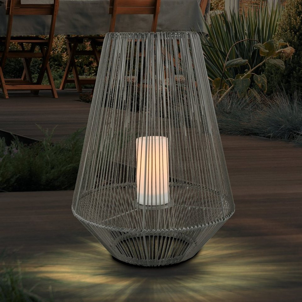 etc shop LED Dekolicht, Laterne Solar Außen Modern Große Solarlaterne für  Außen Deko Laterne mit LED Kerze, mit flackerndem Lichteffekt, 20x LED Akku,  ...