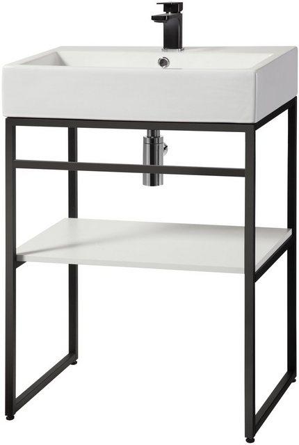 Waschtische - welltime Waschtisch »Metall«, Badmöbel in Breite 60 cm  - Onlineshop OTTO