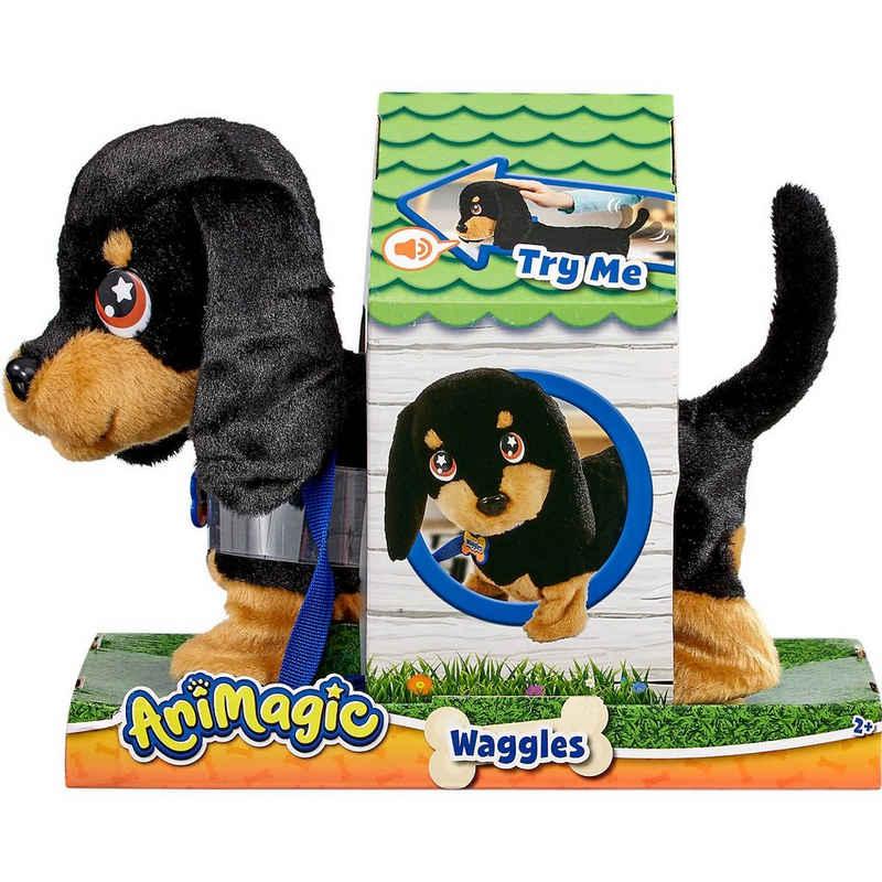 Goliath® Plüschfigur »Animagic - Waggles der Hund - Neues Modell«