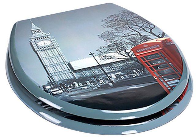 WCs und Zubehör - MSV WC Sitz »LONDON«, MDF Kern  - Onlineshop OTTO