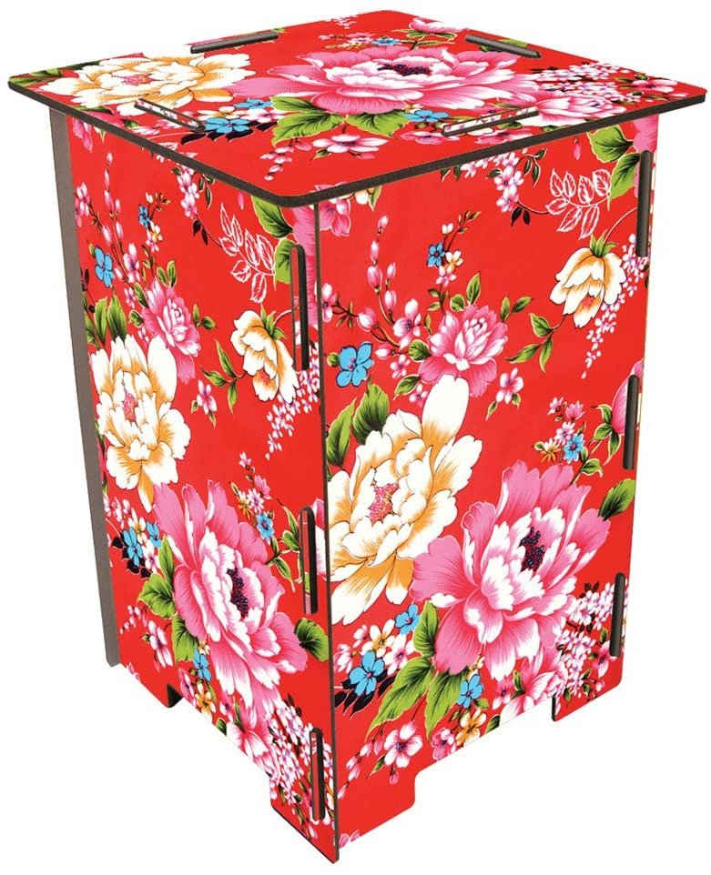 WERKHAUS® Hocker »Werkhaus Hocker Kinderhocker Beistelltisch Tisch Tritt Schemel, Blumen«
