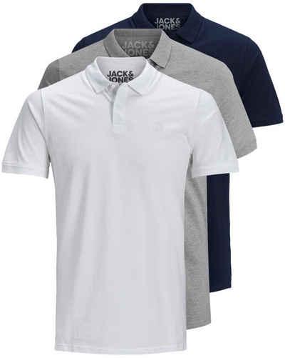 Jack & Jones Poloshirt »Basic« (3-tlg., 3er Pack) slimfit / figurbetont geschnitten