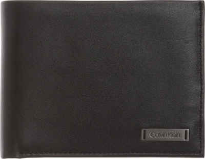 Calvin Klein Geldbörse »SMOOTH W PLAQUE SMOOTH W PLAQUE 5 CC COIN«, in schlichter Optik
