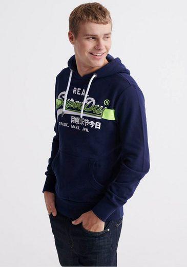 Superdry Kapuzensweatshirt mit Ärmel- und Saumbündchen