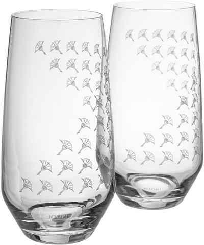 Joop! Longdrinkglas »JOOP! FADED CORNFLOWER«, Kristallglas, mit Kornblumen-Verlauf als Dekor, 2-teilig