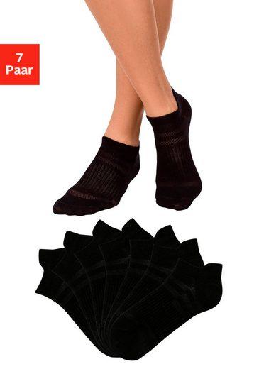 LASCANA ACTIVE Sneakersocken (7-Paar) in Piqué-Optik