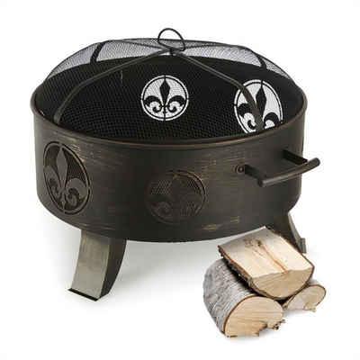 blumfeldt Feuerschale »Versailles Feuerschale Ø 60 cm Stahl schwarz«, Sicheres Lagerfeuer und praktische Wärmequelle mit 60 cm Durchmesser für die Gartenparty