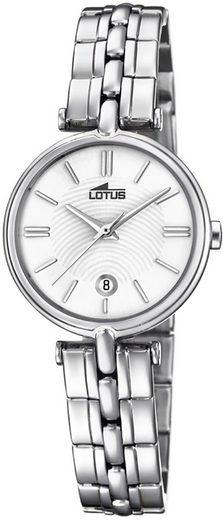 Lotus Quarzuhr »UL18456/1 Lotus Damen Uhr Fashion L18456/1«, (Analoguhr), Damen Armbanduhr rund, Edelstahlarmband silber