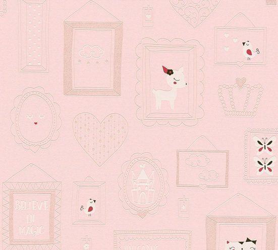 living walls Vliestapete »Boys & Girls«, Kinderzimmertapete Prinzessin, mit Glitzereffekt