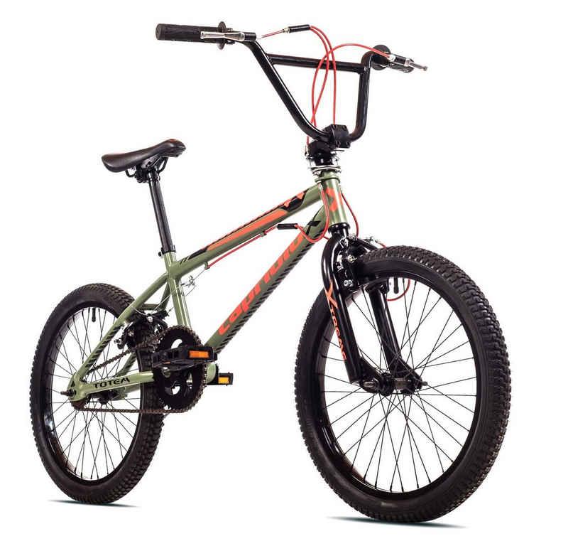 breluxx BMX-Rad »20 Zoll BMX TOTEM olive, 360° Rotor-System, Freestyle Freilauf - inkl. 4 Pegs«, 1 Gang, ohne Schaltung