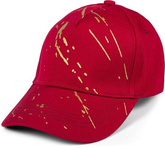 styleBREAKER Baseball Cap »Baseball Cap mit goldenen Farbspritzern« Baseball Cap mit goldenen Farbspritzern