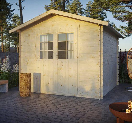 Kiehn-Holz Gartenhaus »Lillevilla 332«, BxT: 283x283 cm, inkl. Aufbau und Fußboden