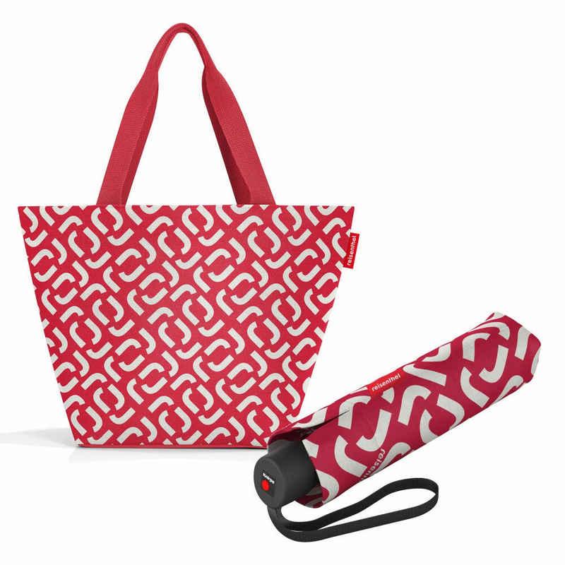 REISENTHEL® Shopper »shopper M Set Signature Red« (Set, 2-tlg), mit umbrella pocket classic