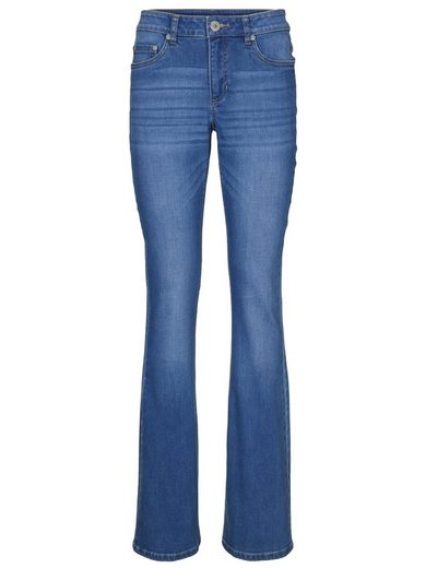 Bootcut Jeans mit leichtem Used-Look