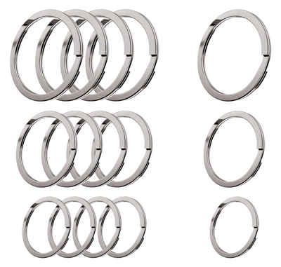 Cerbery Schlüsselanhänger »Schlüsselringe Set aus gehärtetem Stahl - 5 x 30 mm, 5 x 25 mm, 5 x 20 mm - Ring Schlüssel Schlüsselanhänger Schlüsselhalter«