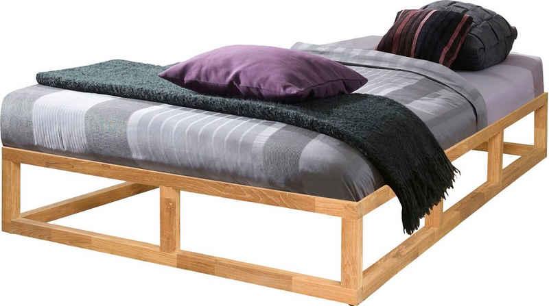 andas Einzelbett »Smood«, aus massivem Eichenholz, in verschiedenen Breiten