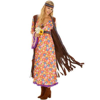 tectake Hippie-Kostüm »Frauenkostüm Mrs. Peacemaker«