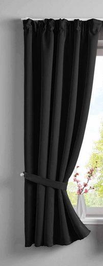 Verdunkelungsvorhang, Gardinenbox, verdeckteSchlaufen (1 Stück), Vorhang Blickdicht »NewYork« Raffhalter 202020610