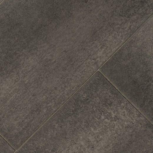 BODENMEISTER Vinylboden »Monero«, diagonal grau anthrazit, Breite 200/300/400 cm