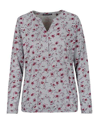 Fry Day Langarmshirt mit floralem Allover-Print