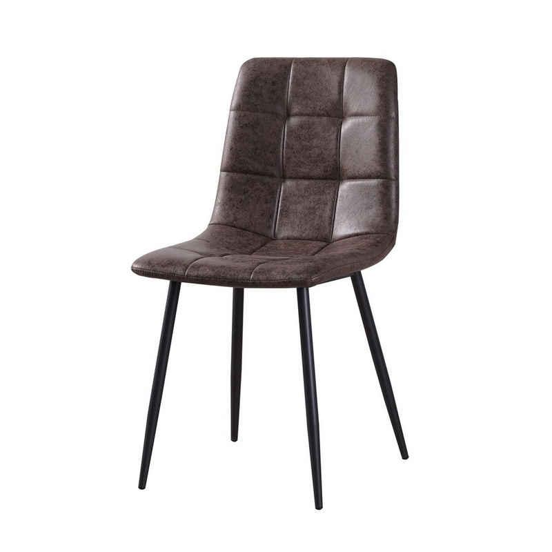 HTI-Living Esszimmerstuhl »Stuhl Mesa Antikbraun« (Einzelstuhl, 1 Stück)