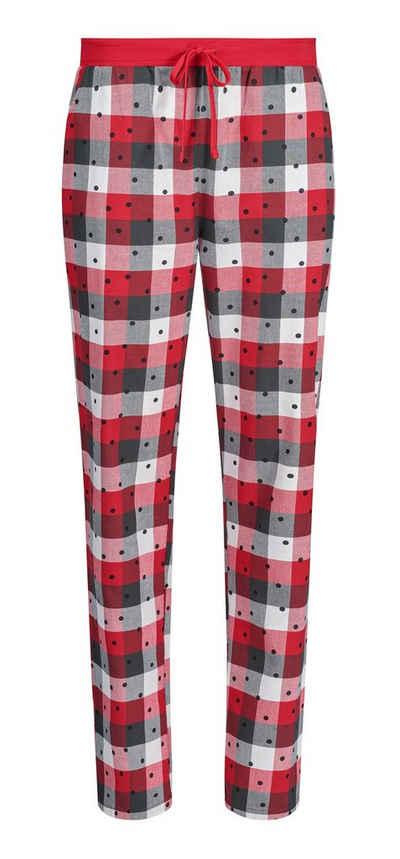 Skiny Pyjamahose »Skiny Damen Schlafanzug Hose Flanell« (1-tlg) Flanell Qualität