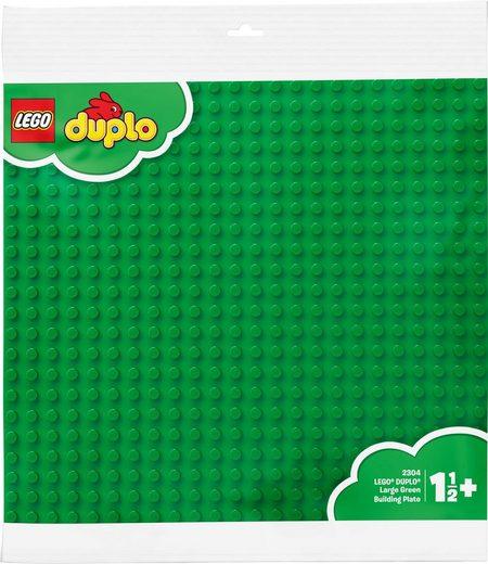 LEGO® Konstruktionsspielsteine »Große Bauplatte, grün (2304), LEGO® DUPLO®«, (1 St), Made in Europe