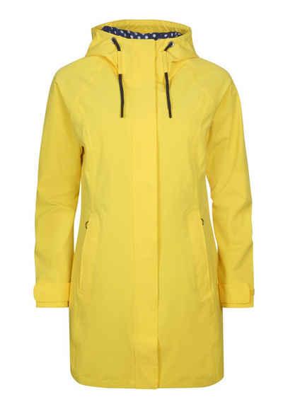 Elkline Regenjacke »Breatheeasy« leichter langer Mantel, 2-Wege-Reißverschluss