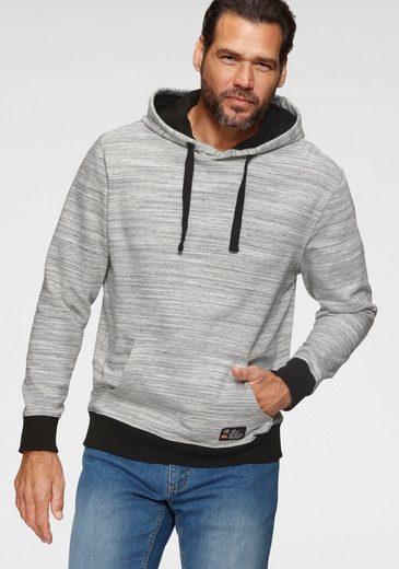 Man's World Kapuzensweatshirt kontrastfarbene Details