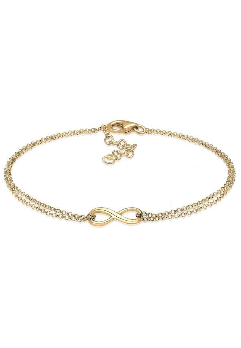 Elli Armband »Infinity Symbol Love Unendlichkeit Layer Silber«, Infinity