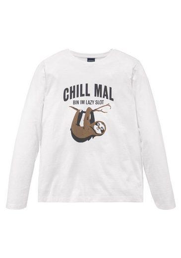 Arizona Langarmshirt »CHILL MAL....« Druck