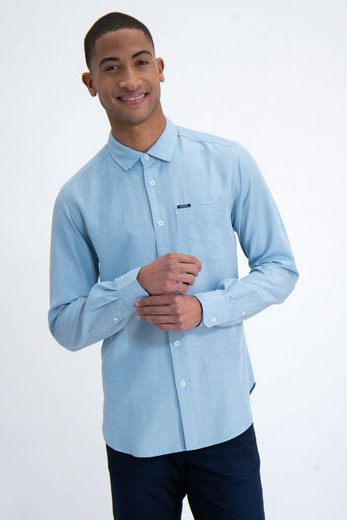 Garcia Langarmhemd aus Leinenmix