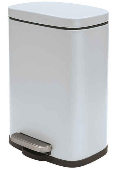 spirella Kosmetikeimer »AKIRA«, Treteimer mit Softclose-Absenkautomatik, herausnehmbarem Inneneimer, Anti-Fingerprint-Beschichtung, 5L, ice blau