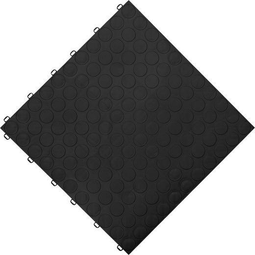 FLORCO Klick-Fliesen »spot«, 6 Stück á 40x40 cm, schwarz