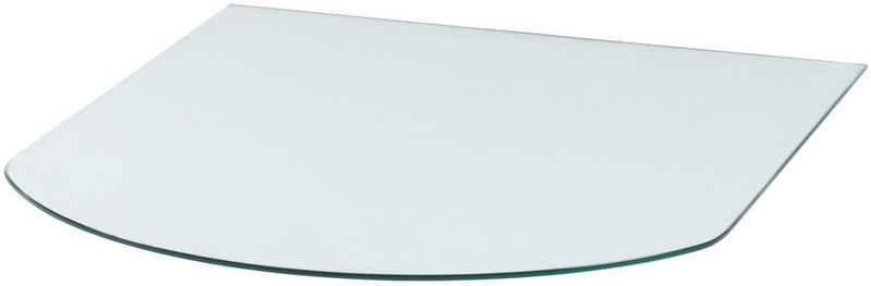 Heathus Bodenschutzplatte, Halbrundbogen, 85 x 110 cm, transparent, zum Funkenschutz