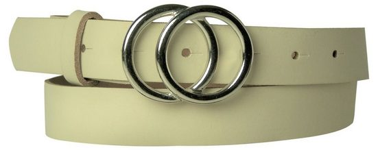 FRONHOFER Hüftgürtel »18531« Damengürtel moderne Ringschnalle silber Echtledergürtel 3 cm