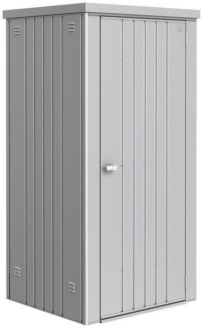 Biohort Geräteschrank Gr. 90, B/T/H: 93/83/182,5 cm, silberfarben metallic
