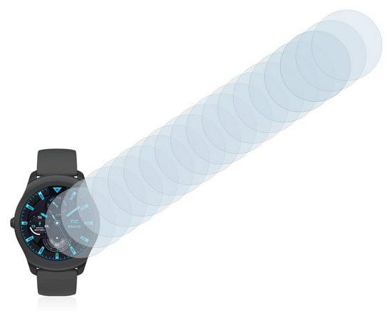 Savvies Schutzfolie »für Mobvoi Ticwatch 2 (44 mm)«, (18 Stück), Folie Schutzfolie klar