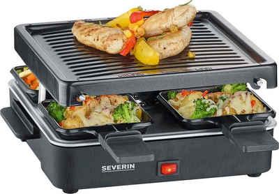 Severin Raclette RG 2370, 4 Raclettepfännchen, 600 W